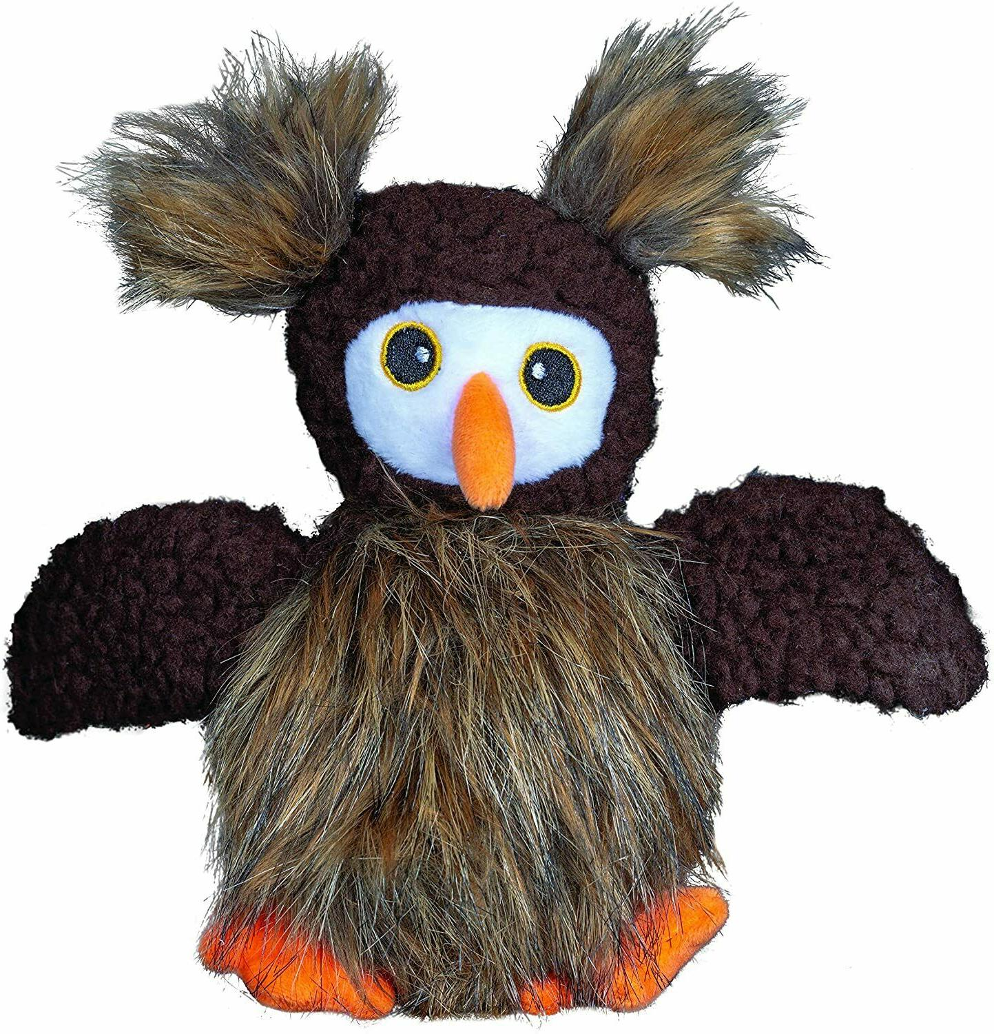 furry friends fuzzy owl with ball squeaker