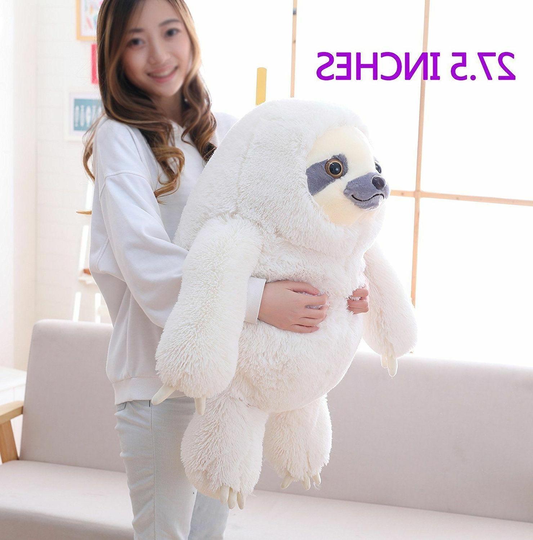 Winsterch Giant Sloth Stuffed Animal Toy Kids Plush Sloth 27.5