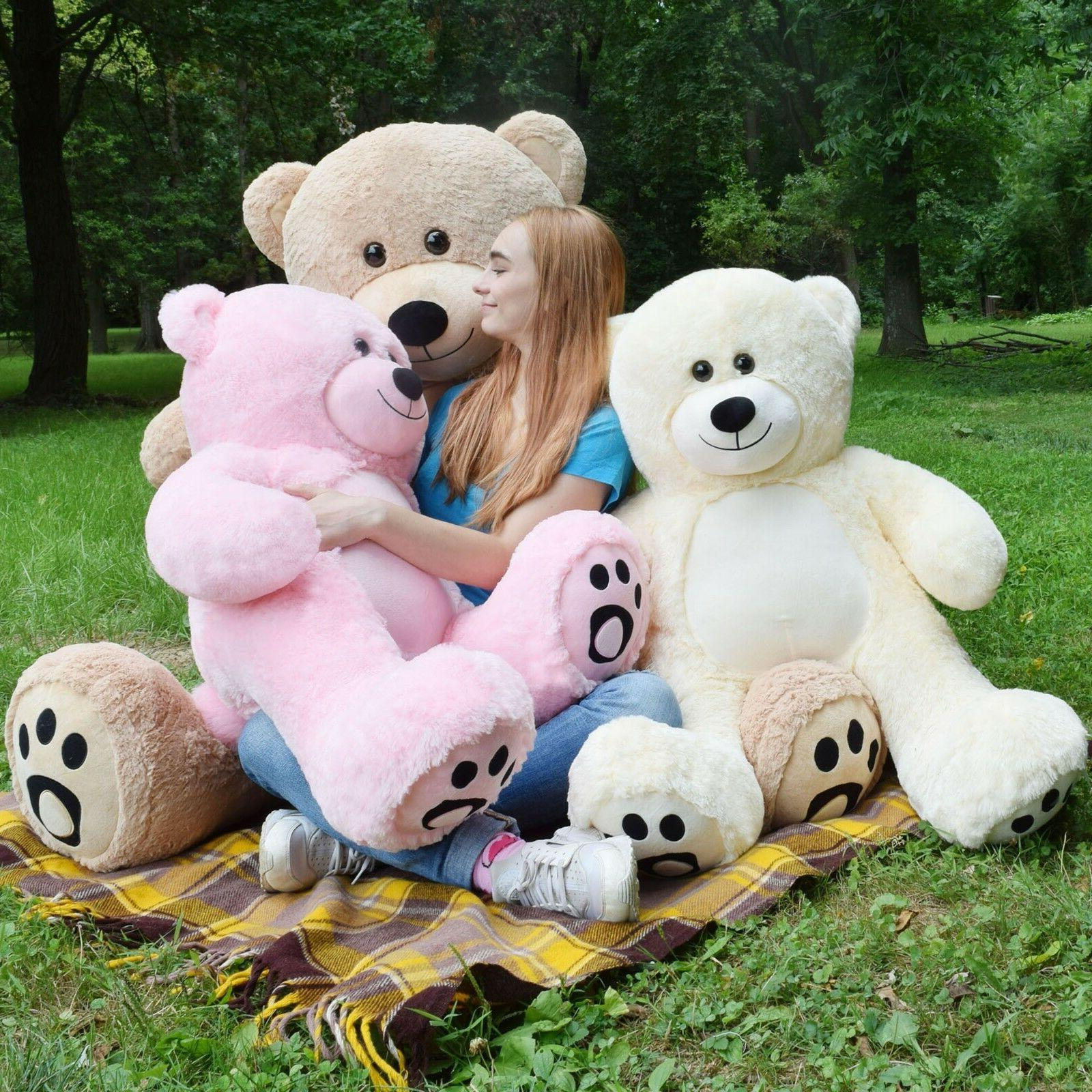 Huge Teddy Bear Plush Soft Big Doll Stuffed Animal Toy Girlf