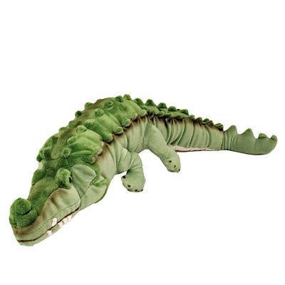 green crocodile soft plush toy new agro