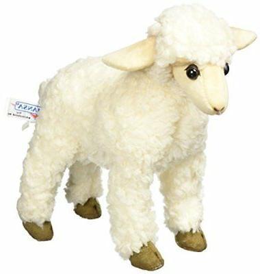 """Hansa Sheep Plush Animal Toy, 11"""", White"""