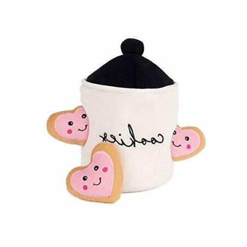 hide and seek plush dog toy cookie