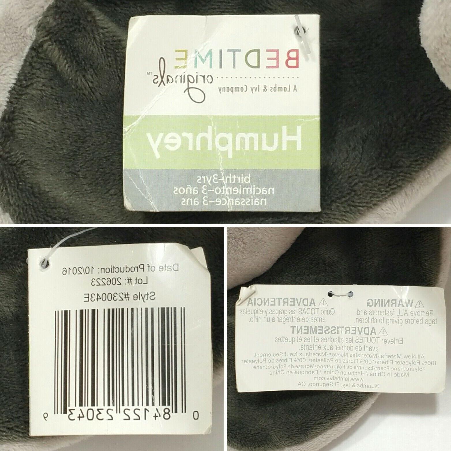 Bedtime Originals Gray Elephant Stuffed Plush
