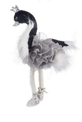 Ganz Kids Baby Plush Toy 10 inches - Swanslea Swan Black