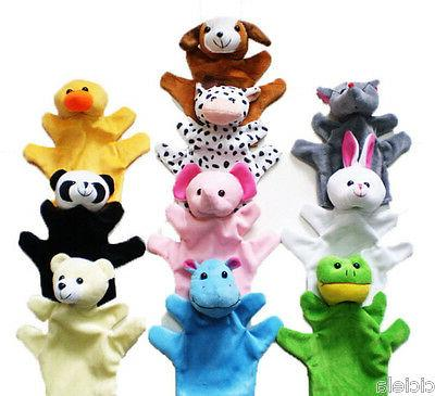 Kids Cute Mixed Finger Puppets Plush Cloth Doll Development Baby Hand Toy