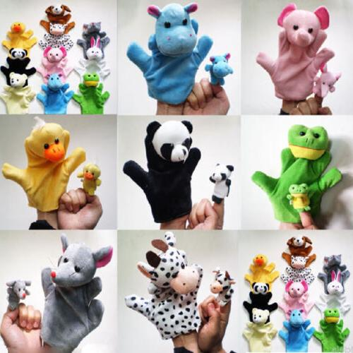 kids cute mixed animal finger puppets plush