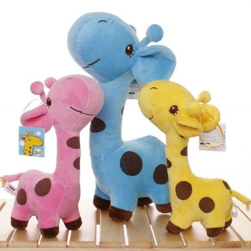 kids giraffe dear soft plush toy cute