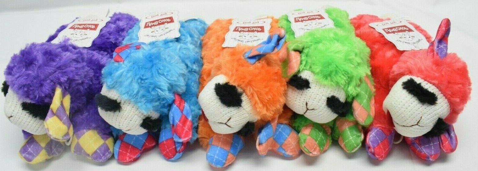 lamb chop plush dog toy w squeaker