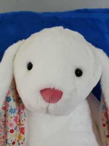 Large Bunny Plush ~ White w/