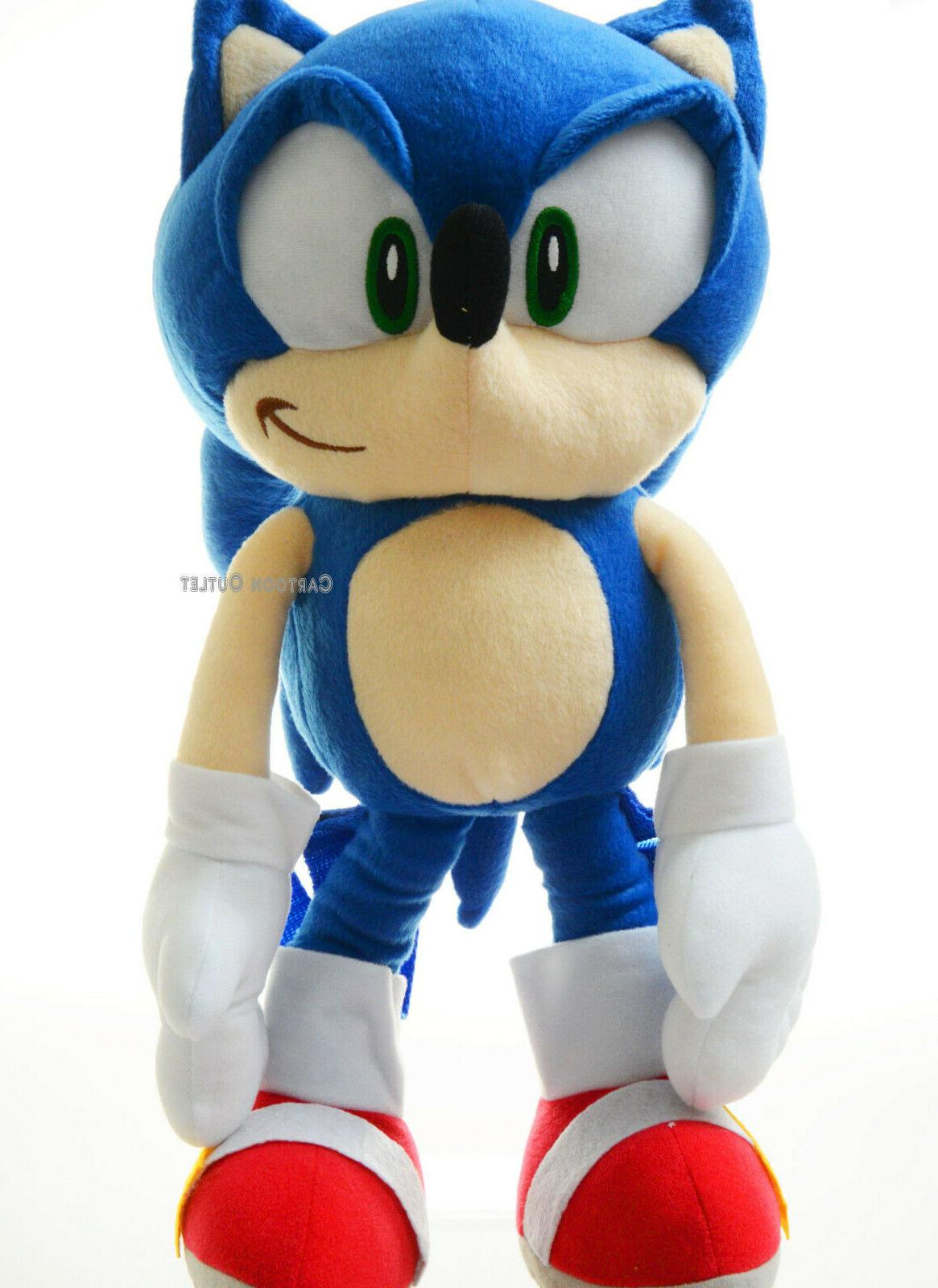 Large Sonic The Hedgehog Plush Doll Backpack Stuffed Figuire