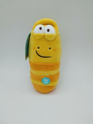 larva farting sound plush toy 8 inch