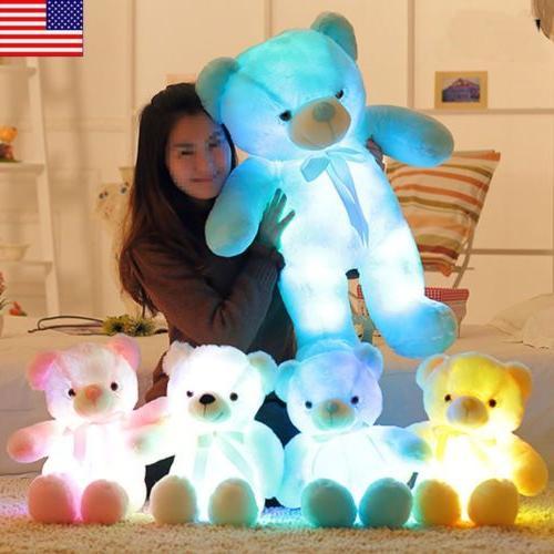 led flash teddy bear stuffed animals plush