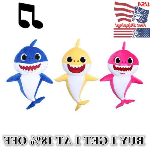 little shark plush singing plush toys music