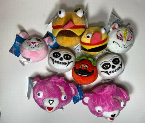 lot of 9 fortnite plush toys all