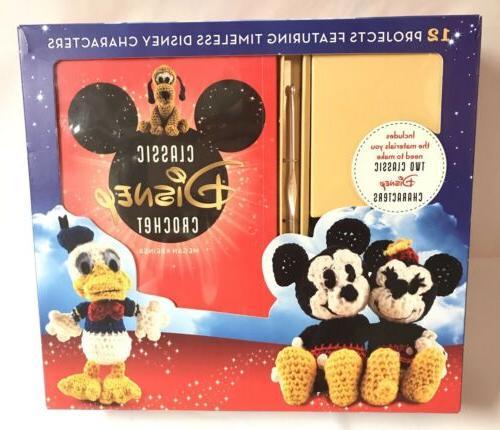 DISNEY Mickey Minnie Crochet Kit 12 Projects Arts Crafts Plu