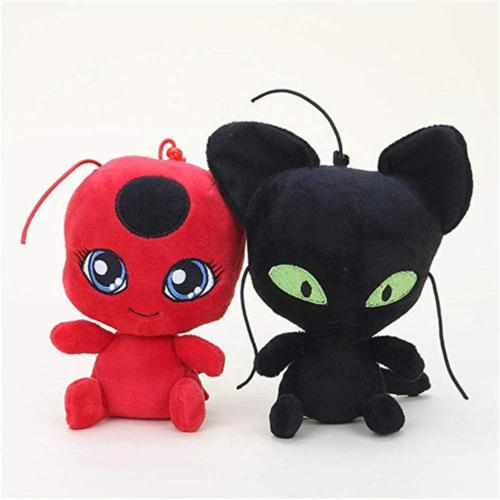 miraculous ladybug cat plagg and tikki plush