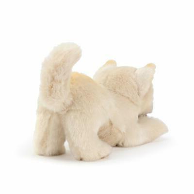 DEMDACO Mix Dog White inch Plush Figure Toy