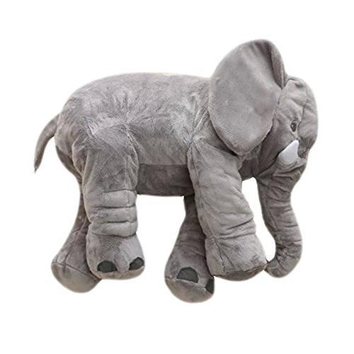 morismos stuffed elephant plush pillow toy grey inch 60cm