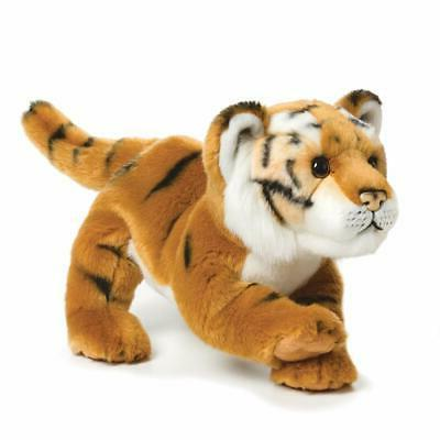 Demdaco Nat and Jules 11.5 inch Brown Tiger Large Plush Toy