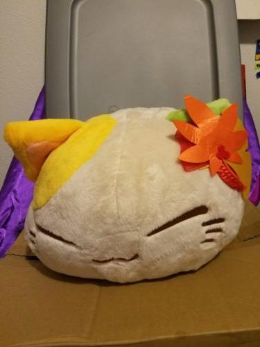 FuRyu Nemuneko Autumn Leaves Yellow Cat Big DX Plush 33cm AM