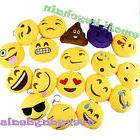 "New 18 pcs 2"" Emoji Smiley Stuffed Plush Toy KEY CHAIN for G"
