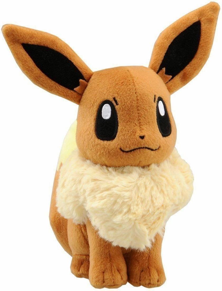 "NEW 7"" EEVEE Pokemon Go Plush Toy TOMY Soft Stuffed Animal D"
