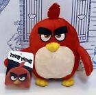 New ANGRY BIRDS MOVIE Red Bomb Bird Stuffed Animal Plush TOY
