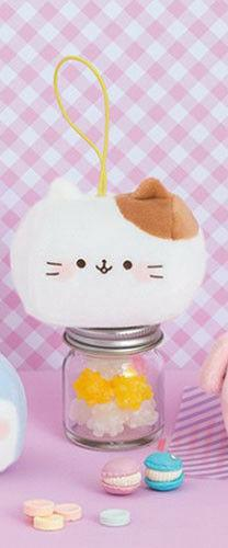 NEW FuRyu Funi Funi Marshmallow White Cat Plush Charm 8cm AM