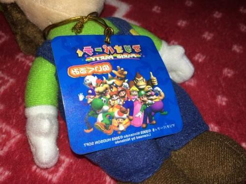 NEW Sanei Party 5 LUIGI Mario Plush Toy Japan S 2004