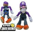 "Nintendo Super Mario Bros Figure 10"" Waluigi Plush Stuffed S"