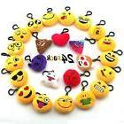 JACHAM Novelty Toys Emoji Keychain, Emotion Plush Pillow,Kid