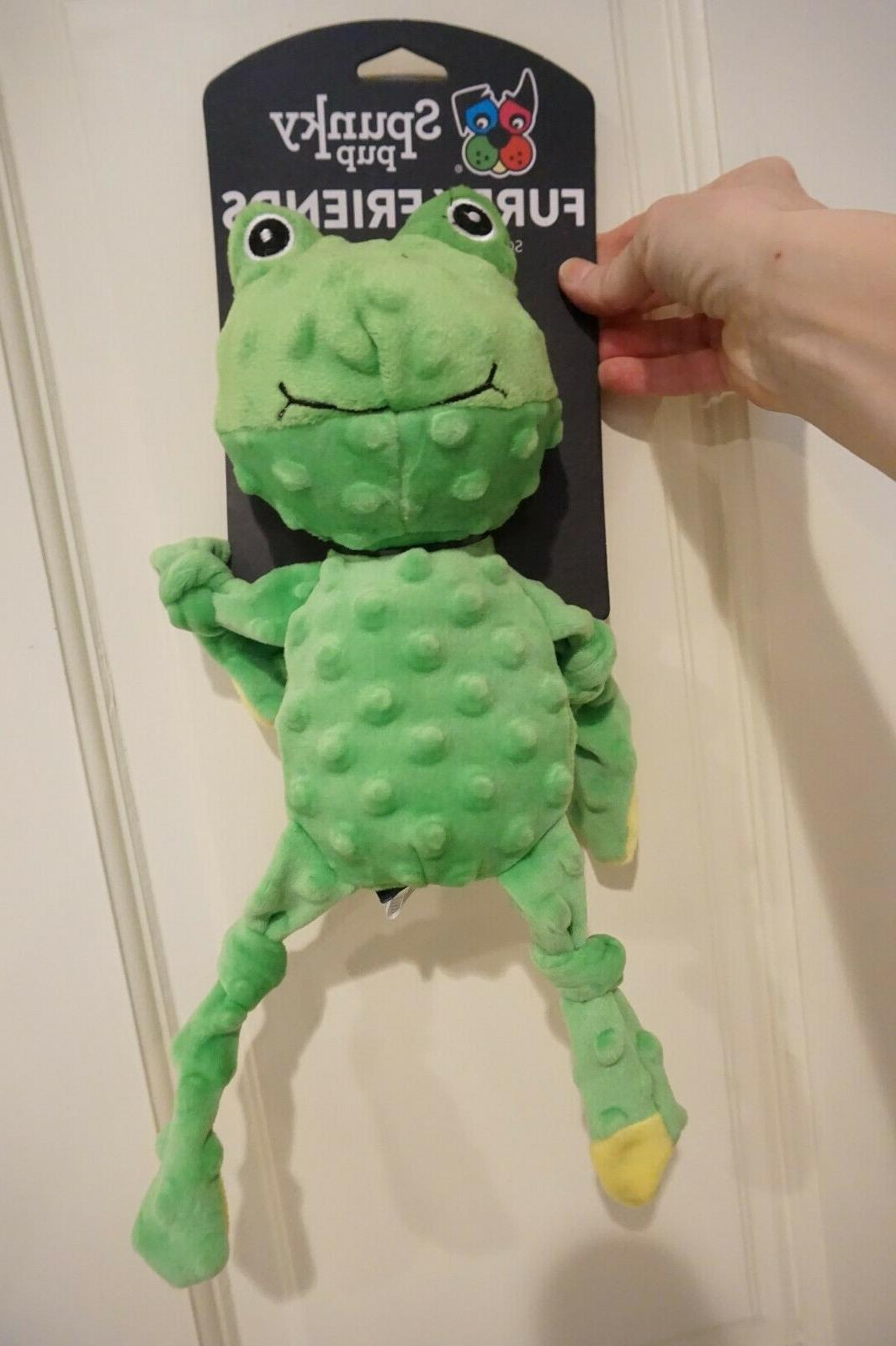 nwt dog toy furry friends frog