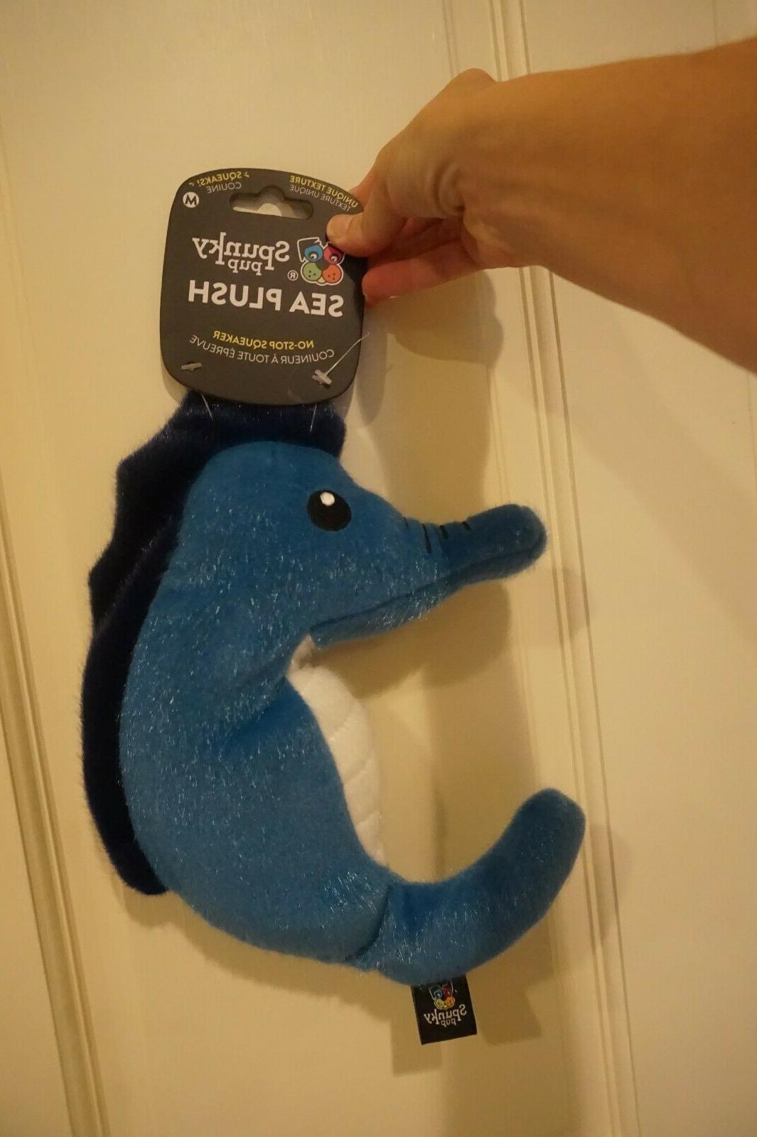 nwt sea plush dog toy seahorse medium