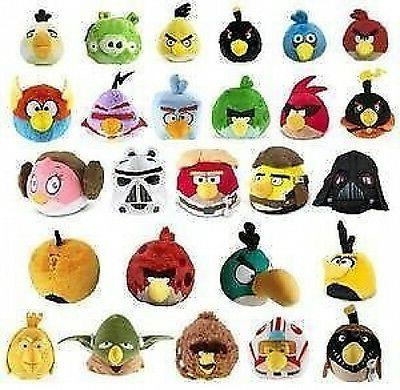 "OFFICIAL, BRAND NEW 6"" ANGRY BIRDS  SOFT PLUSH TOY BNWT - LI"