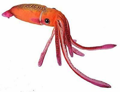 orange squid plush toy 30 long
