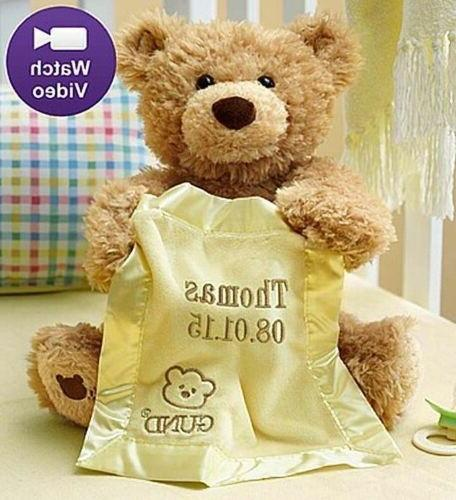 3b1d79f94d6 Personalized Gund® Peek A Boo Teddy Bear-Customized Animate