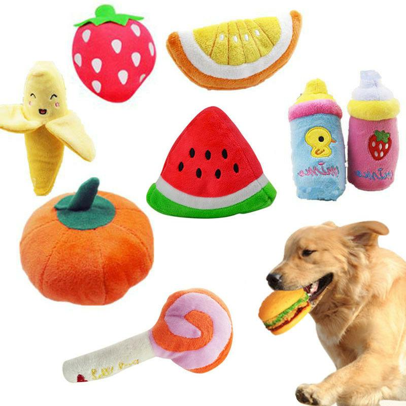 Pet Dog Toy Funny Puppy Chew Squeaker Squeaky Plush Play Sou
