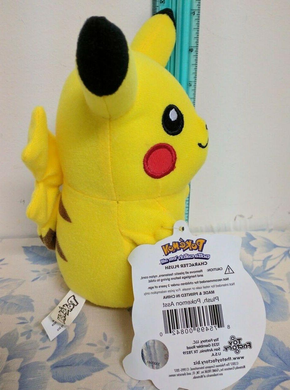 """Pikachu 6"""" Plush Pokemon -"""