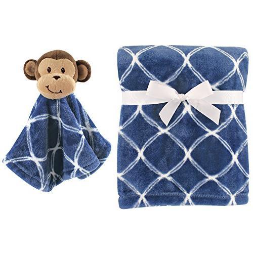 Hudson Baby Plush Blanket and Animal Security Blanket Set