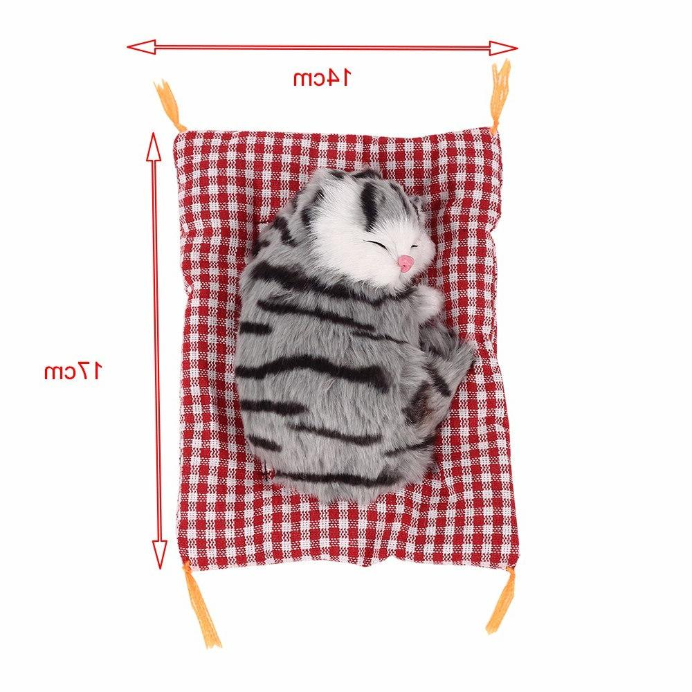 Plush <font><b>Toys</b></font> Lovely Doll Plush Cats Sleeping <font><b>Toy</b></font> Plush Sound Kids for Kids