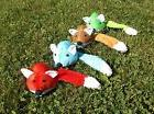 """Plush Fox Pet Dog Toy 14"""" w/Squeaker Color Choice Small to M"""