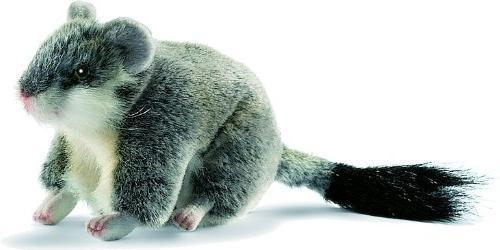 plush grey hamster