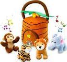 KLEEGER Plush Talking Jungle Animals Toy Set 5 Pcs - Plays S