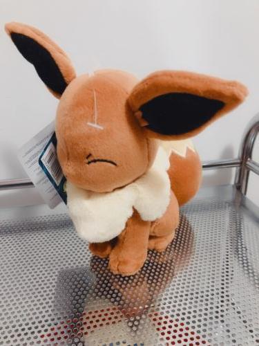 """Pokemon 8"""" EEVEE Pokémon Go Plush NEW Toy TOMY Soft Stuffed"""