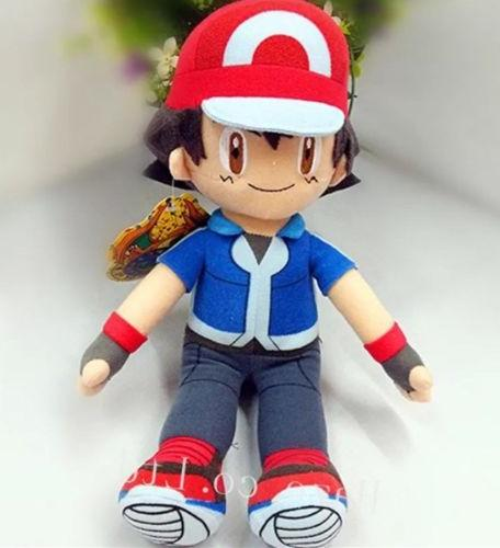 "Pokémon Ash Ketchum Plush Stuffed Animal Toy 11"" US Seller"