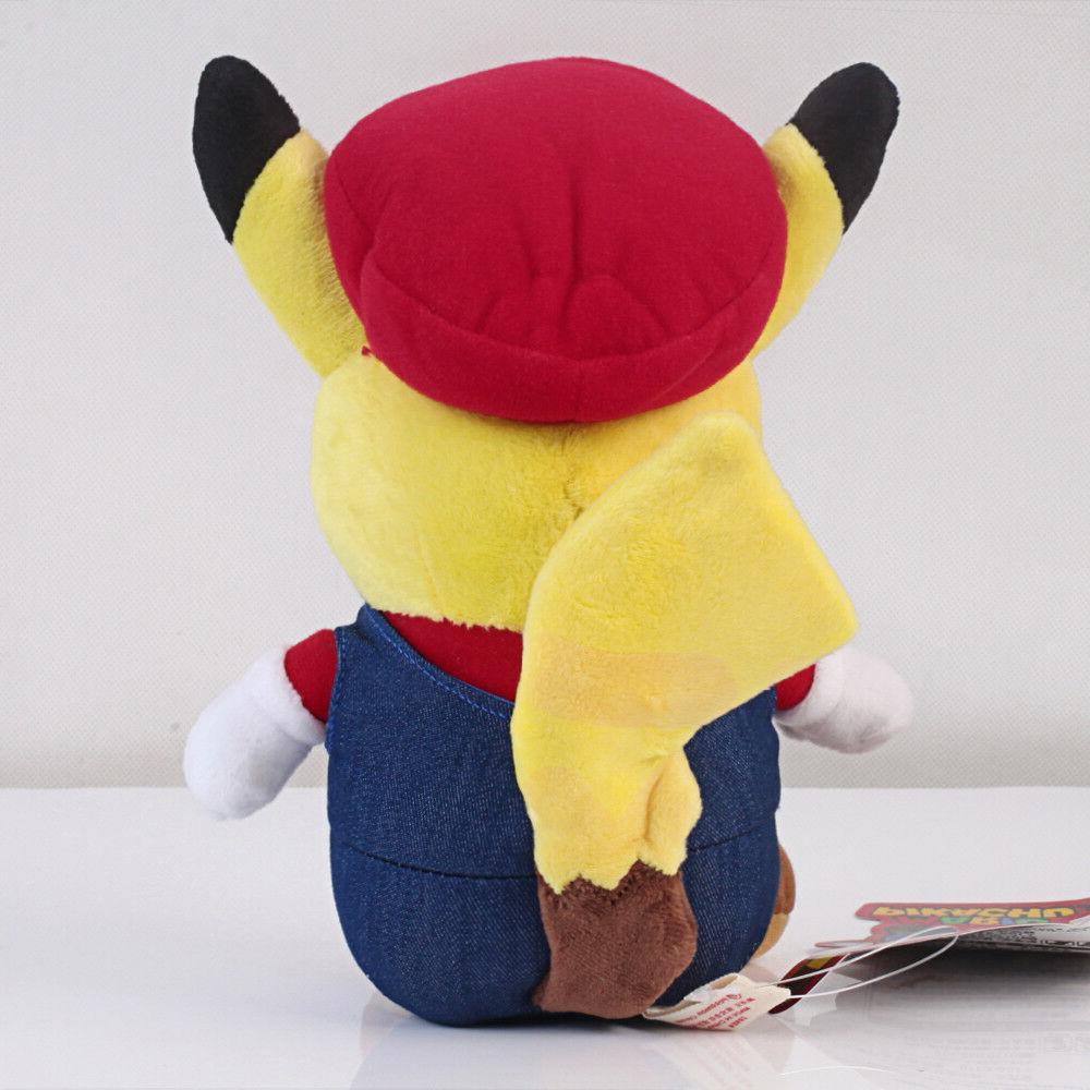 Pokemon Center Pikachu Super Mario Figure 9 US Ship