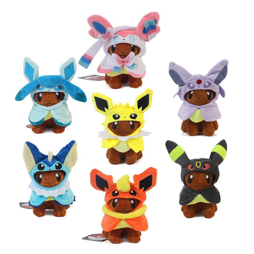 pokemon center plush toy eevee poncho vaporeon