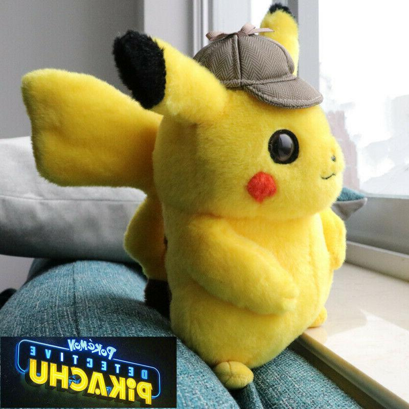 Pokemon Detective Pikachu Doll Stuffed Movie Anime Official Gift