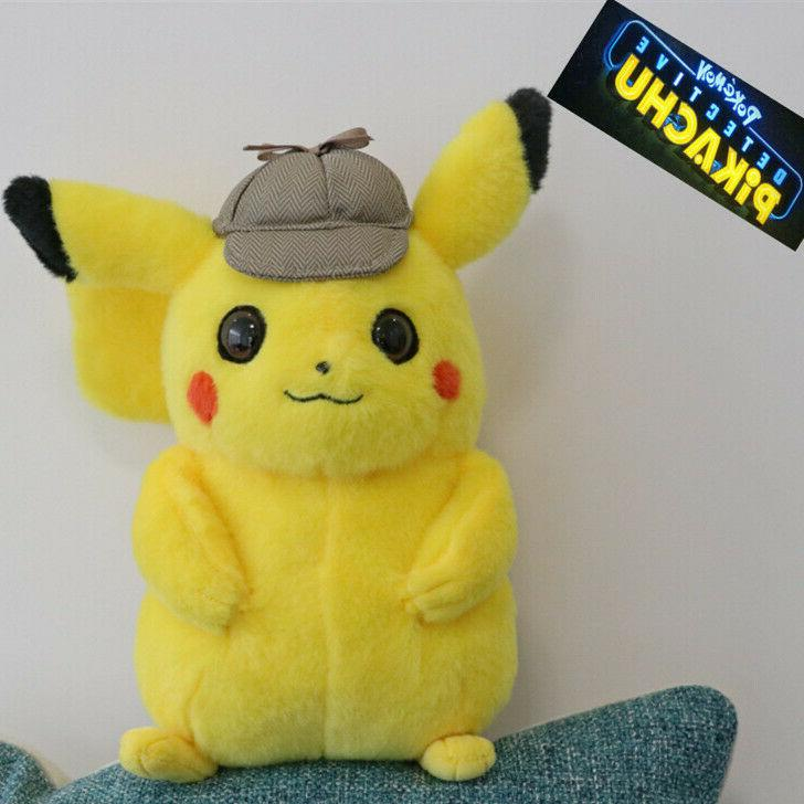 pokemon detective pikachu plush doll stuffed toy