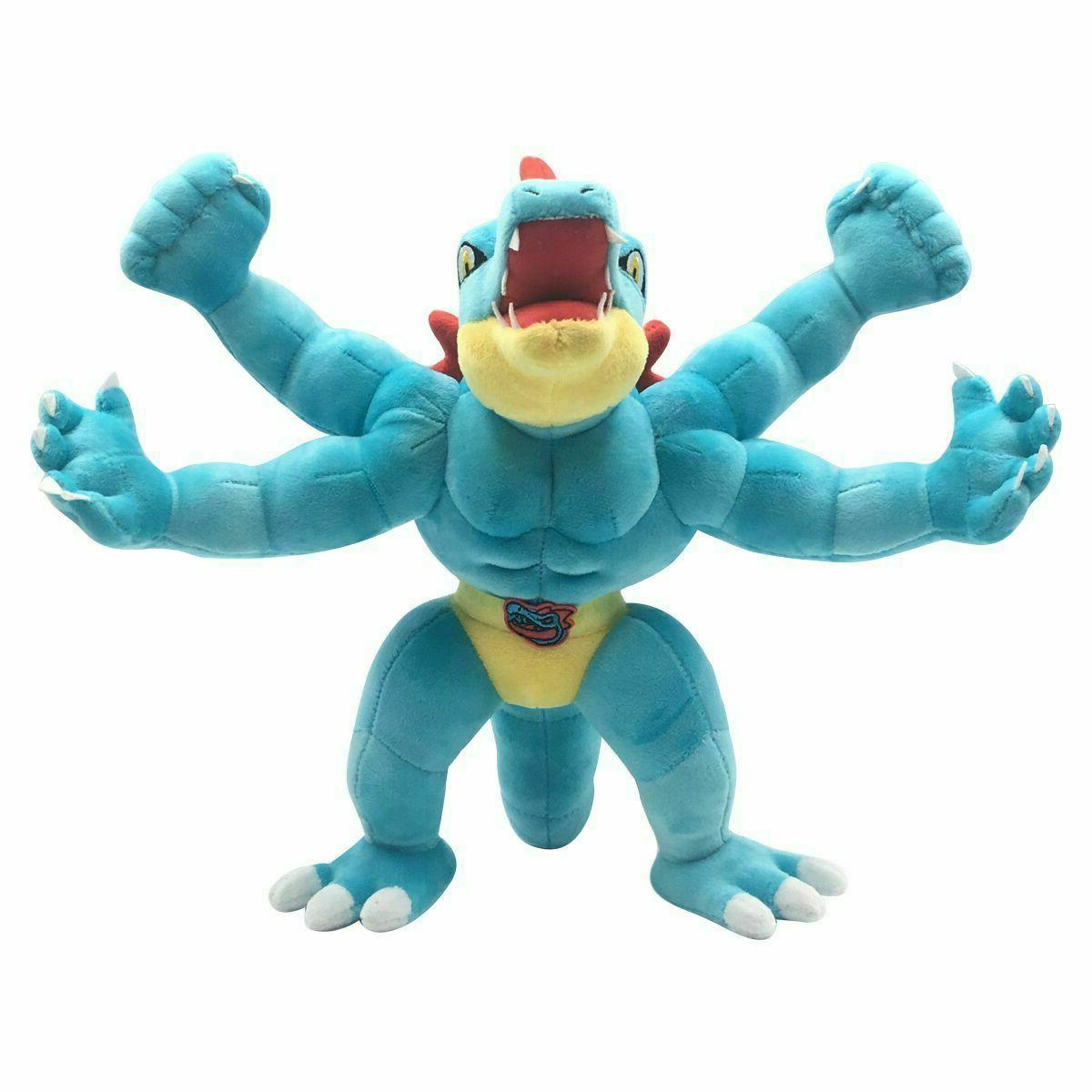 pokemon machamp feraligatr plush doll stuffed animals